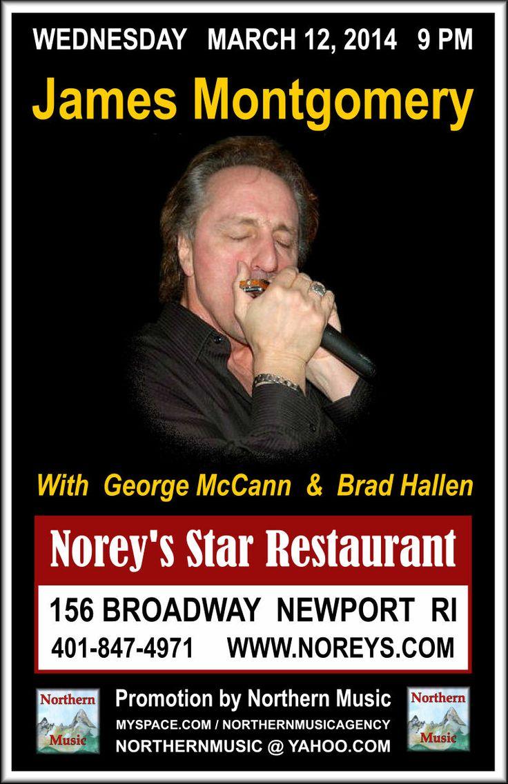 James Montgomery at Norey's Star Restaurant, Newport, RI ...