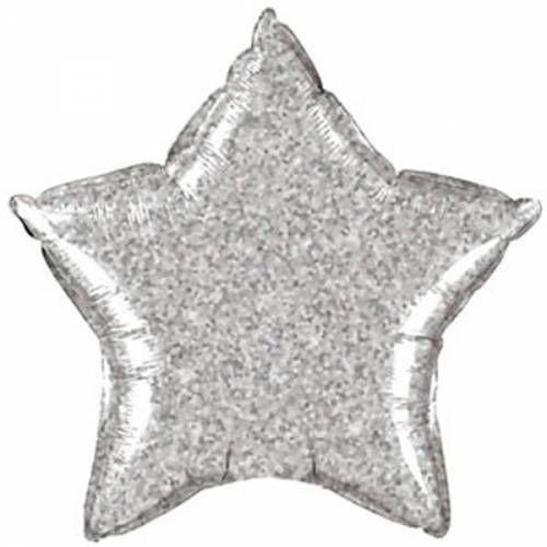 Folieballon Zilveren Glitter Ster 20 inch