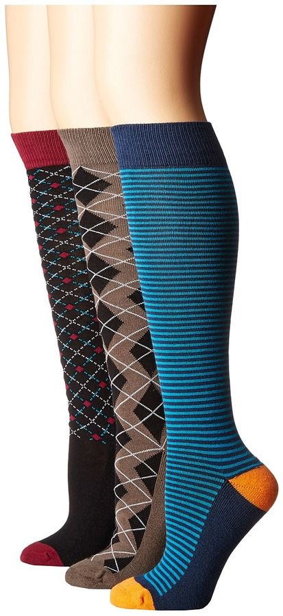 Old West Boots - Knee Riding Socks 3-Pack Women's Knee High Socks Shoes