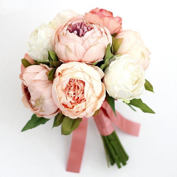 ブーケ/ピオニーのブーケ - ウェディングヘッドドレス&花髪飾りairaka