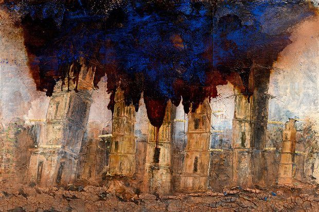 'An intimation of apocalypse'... one of Kiefer's new paintings.