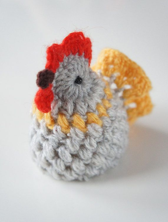 CROCHET A PUFFY CHICKEN So easy to make with this detailed photo tutorial...   • pattern is written in English (US terms) • contains clearly explained instructions for each round • more than 30 step-by-step detailed photos • printable PDF file ready for instant download • contains list of used stitches translated in UK English and Polish crochet terms • suitable for advanced beginners   Materials: All kinds of yarn you like for crochet and 2 small beads for eyes. This project is perfect to…