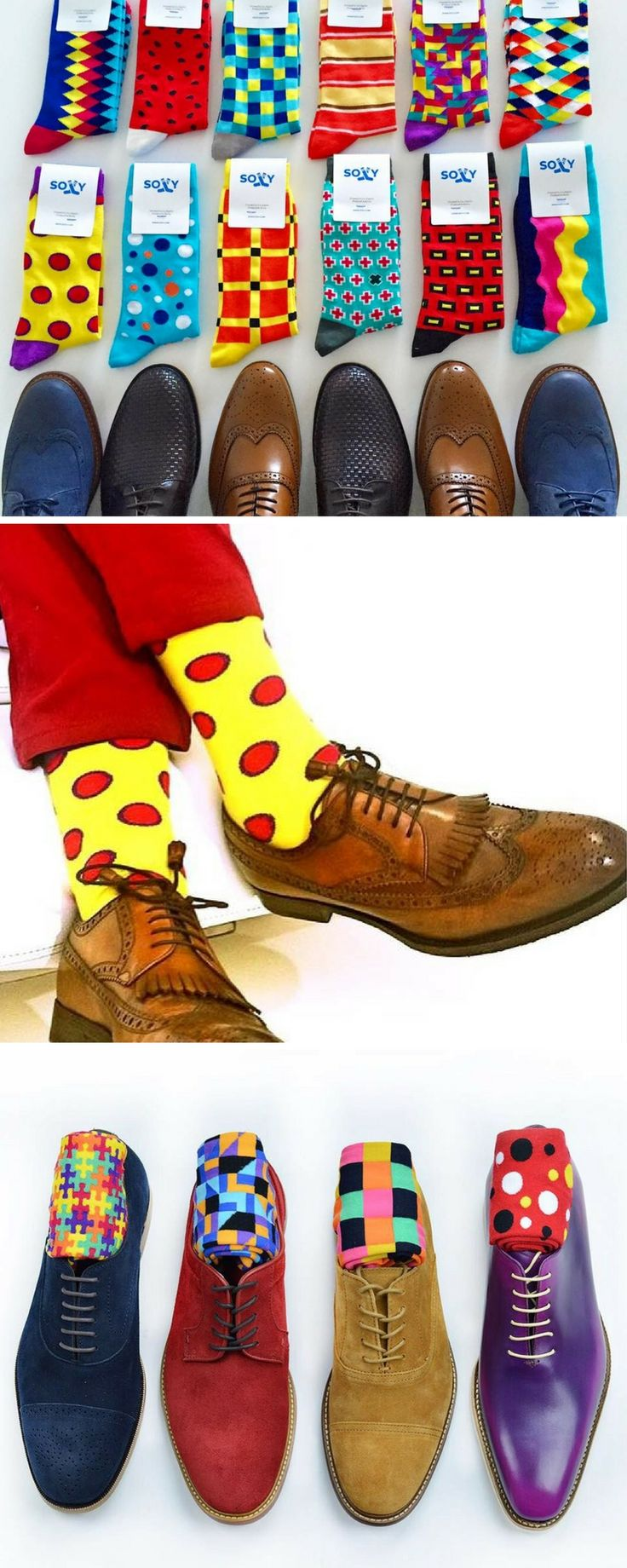 It's always better to have options. Soxy.com designs the coolest, most fun dress socks.