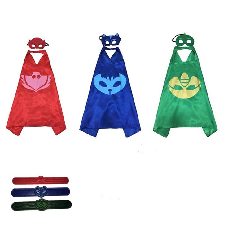 Catboy Owlette Gekko Cloaks Masks Halloween Pjmasks Kids Superhero Cape Masks Birthday Party Dress Up Costumes Masks #clothing,#shoes,#jewelry,#women,#men,#hats,#watches,#belts,#fashion,#style