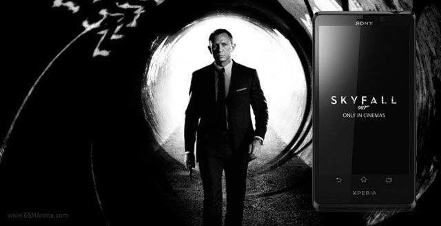 James Bond use the Sony Xperia T in the upcoming Skyfall movie
