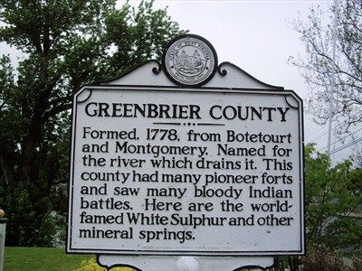 james river, montgomery county, virginia history | Greenbrier County Monroe County - West Virginia Historical Markers on ...