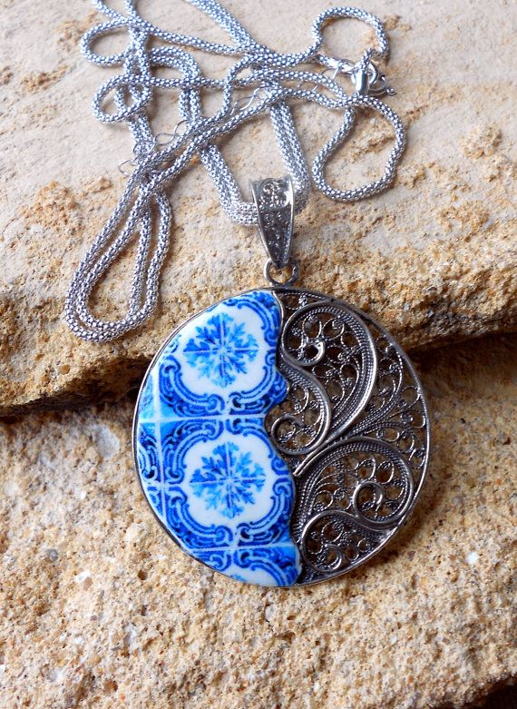 Portugal Sterling Silver Filigree Handmade Pendant by Atrio