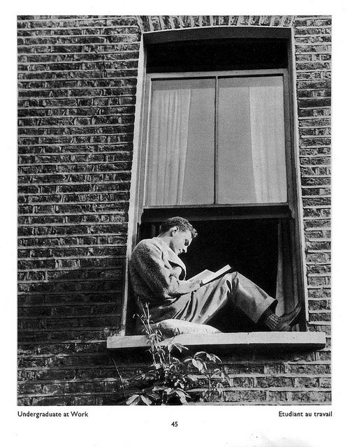 """Undergraduate at Work"" by Bill Brandt from his book ""The English At Home"" (1936)"