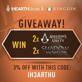 The giveaway for FREE keys for AC Unity and Shadows of Mordor http://www.kinguin.net/7en/2x8 from our sponsor @KinguinNet RT