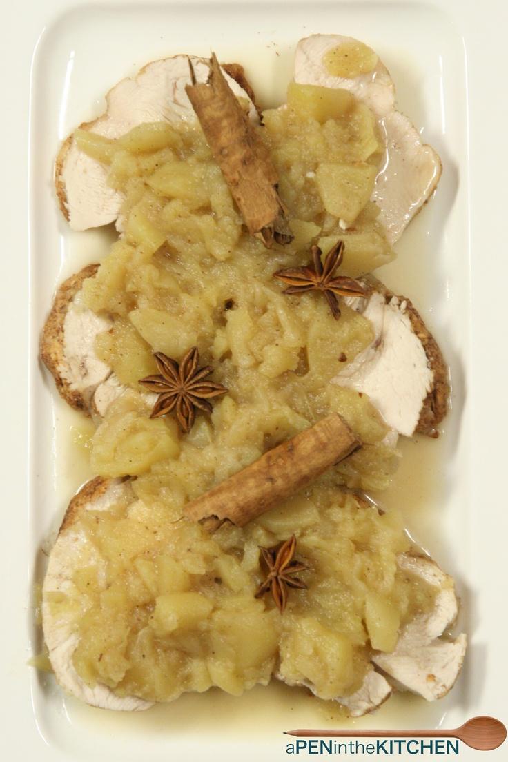 Arrosto di tacchino con le mele... Ricetta su http://apeninthekitchen.blogspot.it/2013/02/arrosto-di-tacchino-e-mele.html
