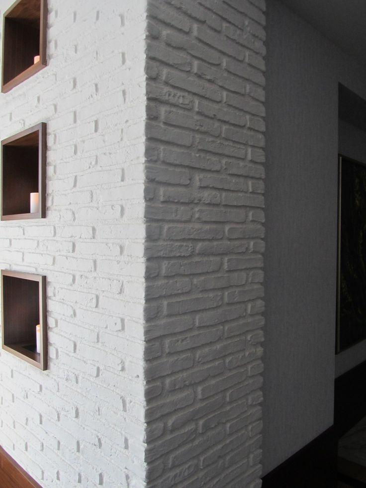 Beyaz Tuğla duvar kaplamanın sadeliği. NETEREN Luxury Wall Panels neteren.com