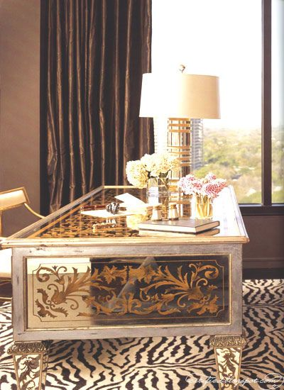 Gilded #mirrors and #zebra print