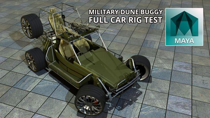 Autodesk Maya 2015 Military Dune Buggy Full Car Rig (Free 3D Model Downl...