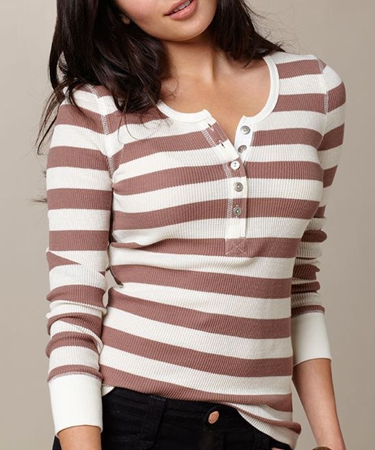 Cream Stripe Jette Top - Women | Daily deals for moms, babies and kids