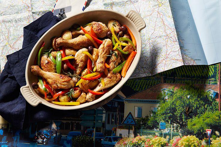 2015 Taste le Tour - Stage 17: Chicken and capsicum casserole with olives (poulet aux poivrons et olives)