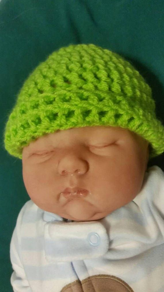Hey, I found this really awesome Etsy listing at https://www.etsy.com/listing/573016493/bright-green-newborn-baby-boys-hat-and