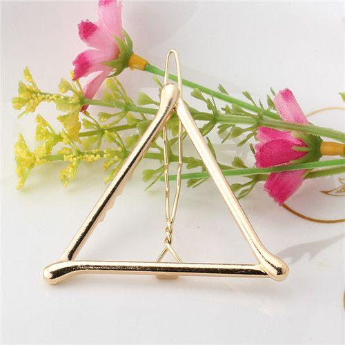 2016 nueva marca De las horquillas triángulo luna joyería del perno De pelo labio ronda pinza De pelo para mujeres Barrettes accesorios principales Bijoux De Tete