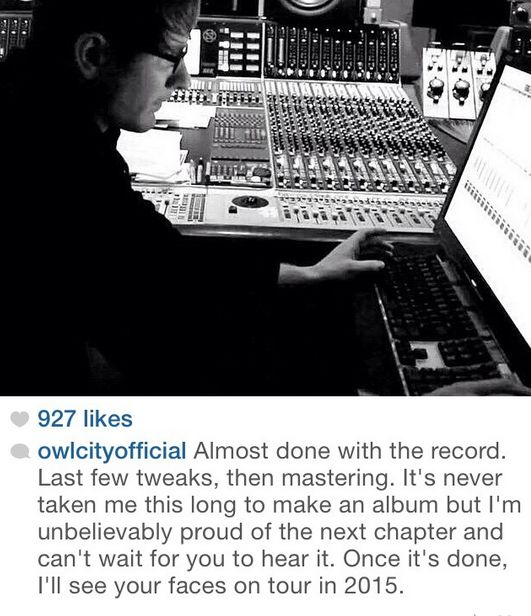 owl city - adam young about new record