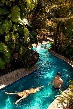 Dreaming of the lazy river pool at Velas Vallarta!