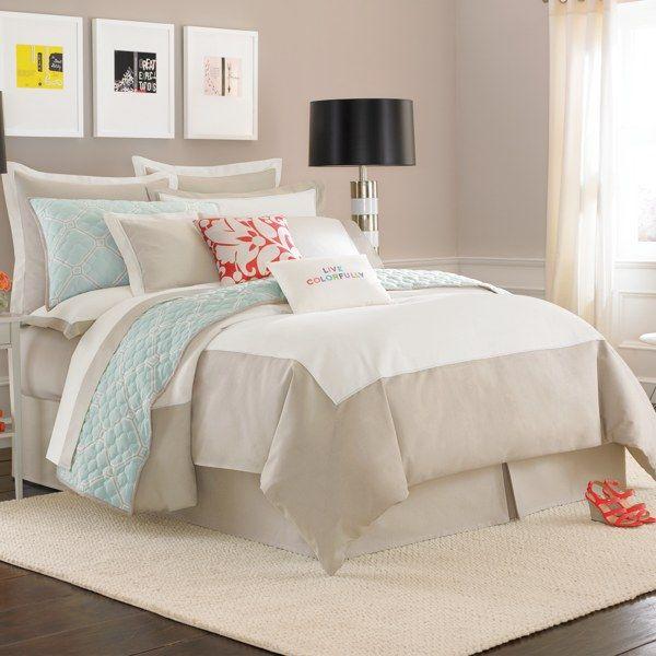 kate spade new york Spring Street Duvet Cover Set, 100% Cotton - Cream - Bed Bath & Beyond