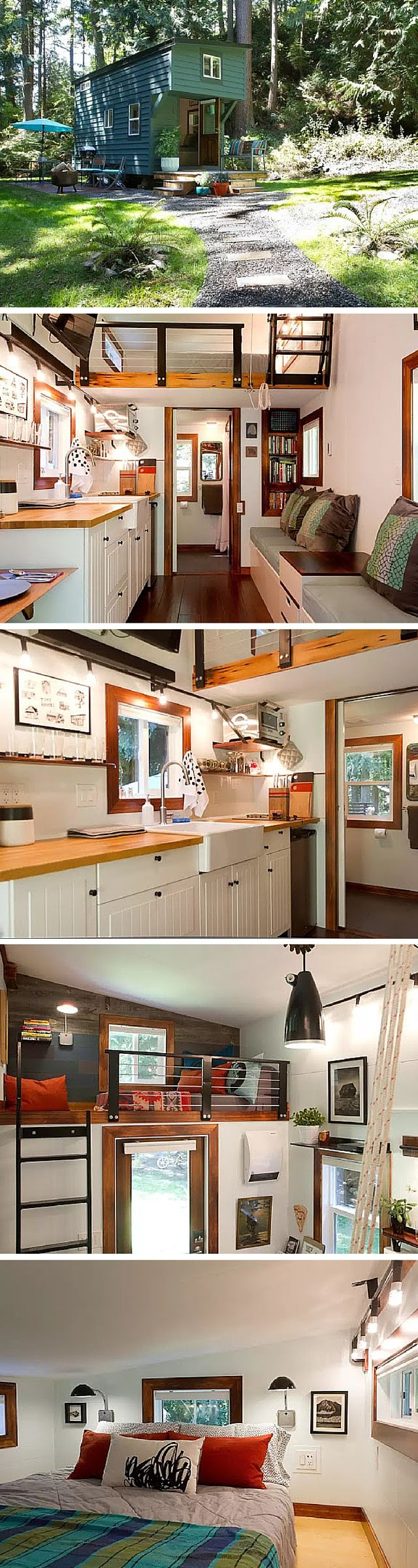 The Maker's tiny house. A retreat on Guemes Island in Washington.