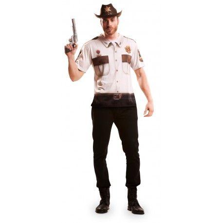 Camiseta de Sheriff para Hombre #Disfraz #Camiseta
