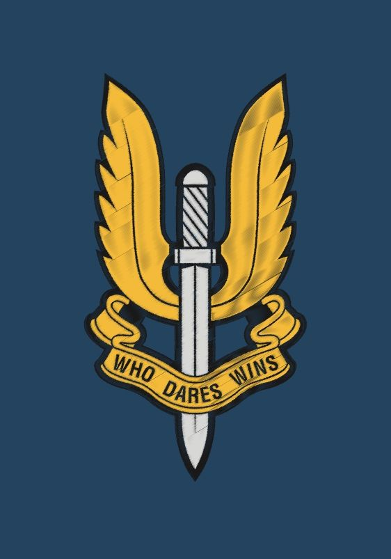The Special Air Service is a trail blazing unit formed in July 1941 by David Stirling. It was conceived as a commando force to operate behind enemy lines in the North African Campaign. A distinctive and iconic design.