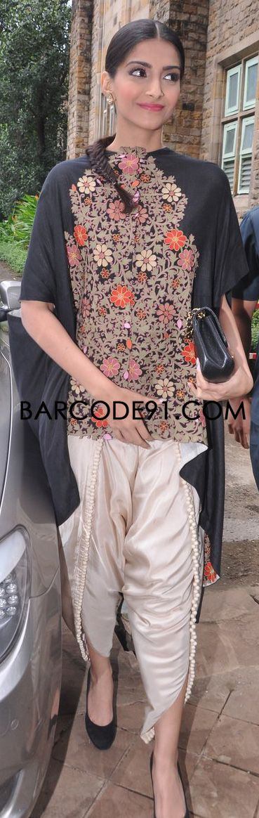 http://www.barcode91.com/ Sonam Kapoor in Anamika Khanna outfit attending the World Youth Day