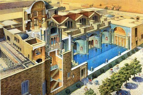 ....queste terme erano le più sontuose di Roma, benché destinate all'uso del popolo dei quartieri circostanti...