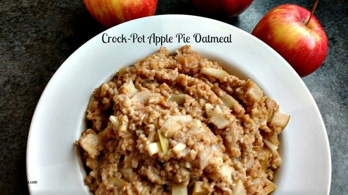 Crock-Pot Apple Pie Oatmeal - Wake up to the amazing aroma of this easy recipe for Crock-Pot Apple Pie Oatmeal that has been cooking overnight in your slow cooker. Steel cut oatmeal is simmered with fresh apples, cinnamon and other warm spices to bring you a healthy breakfast that is gluten free, vegan, vegetarian and high in fiber! | CrockPotLadies.com