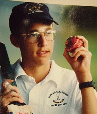 The Harry Potter years: a photograph of a young Daniel Vettori from his father's scrapbook