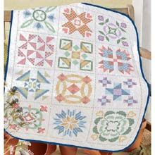19 best St&ed crossstitch quilts images on Pinterest | Cross ... : cross stitch quilt kits - Adamdwight.com
