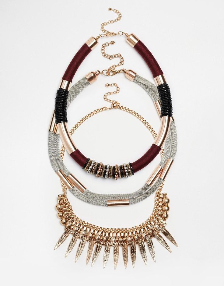 Image 1 of New Look Premium Wrapped Necklace Multipack