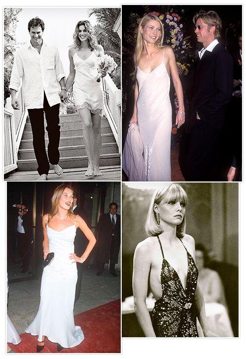 Kate Moss, Gwyneth Paltrow, Sarah Jessica Parker: les stars en slip dresses tendances annees 90 30