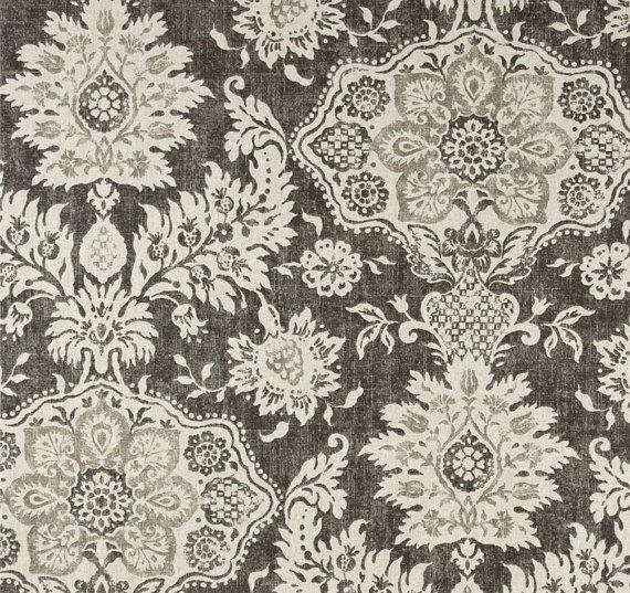 Shower Curtain Belmont Metal Grey Beige Cream 72 X 84 96