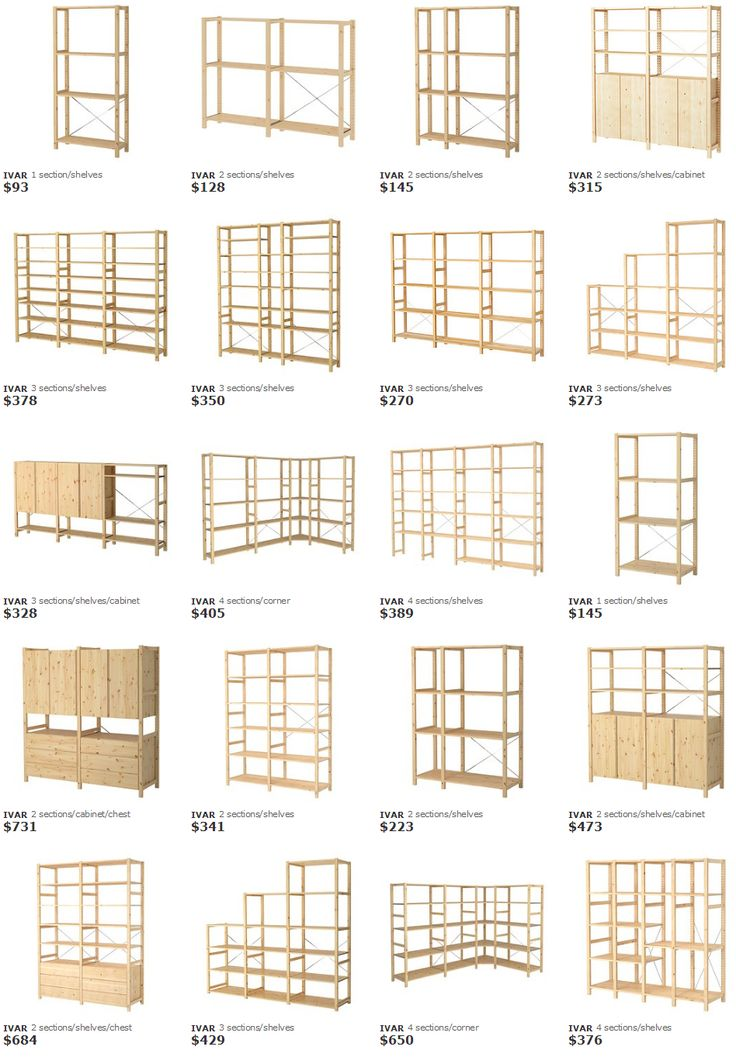 Ikea Ivar shelving system                                                                                                                                                                                 More