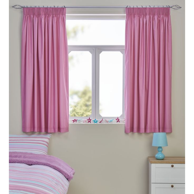 Wilko blackout curtains pink 168x137cm
