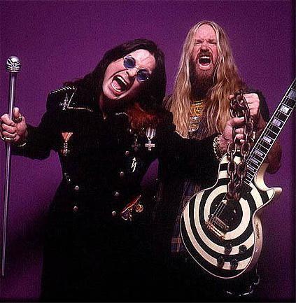 Ozzy Osbourne and Zaak Wylde