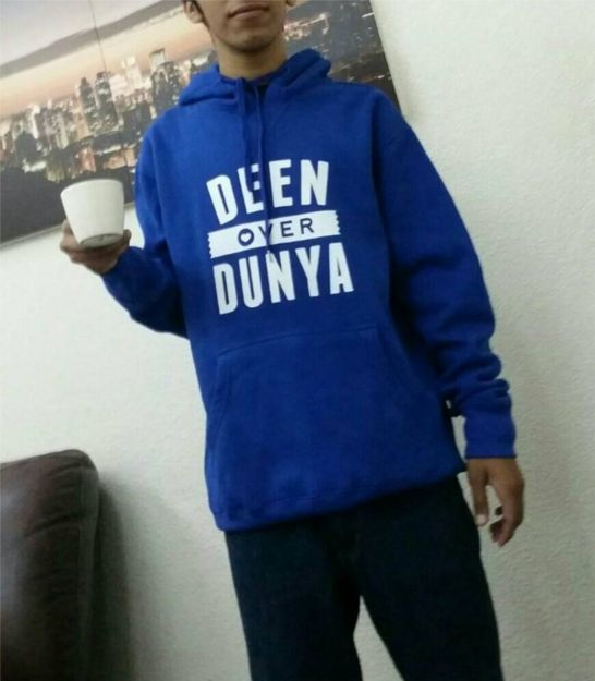 Nothing goes better than a warm drink, warm hoodie & cool weather. HadiyaShop would like thank to our brother 'anonymous' for this share.