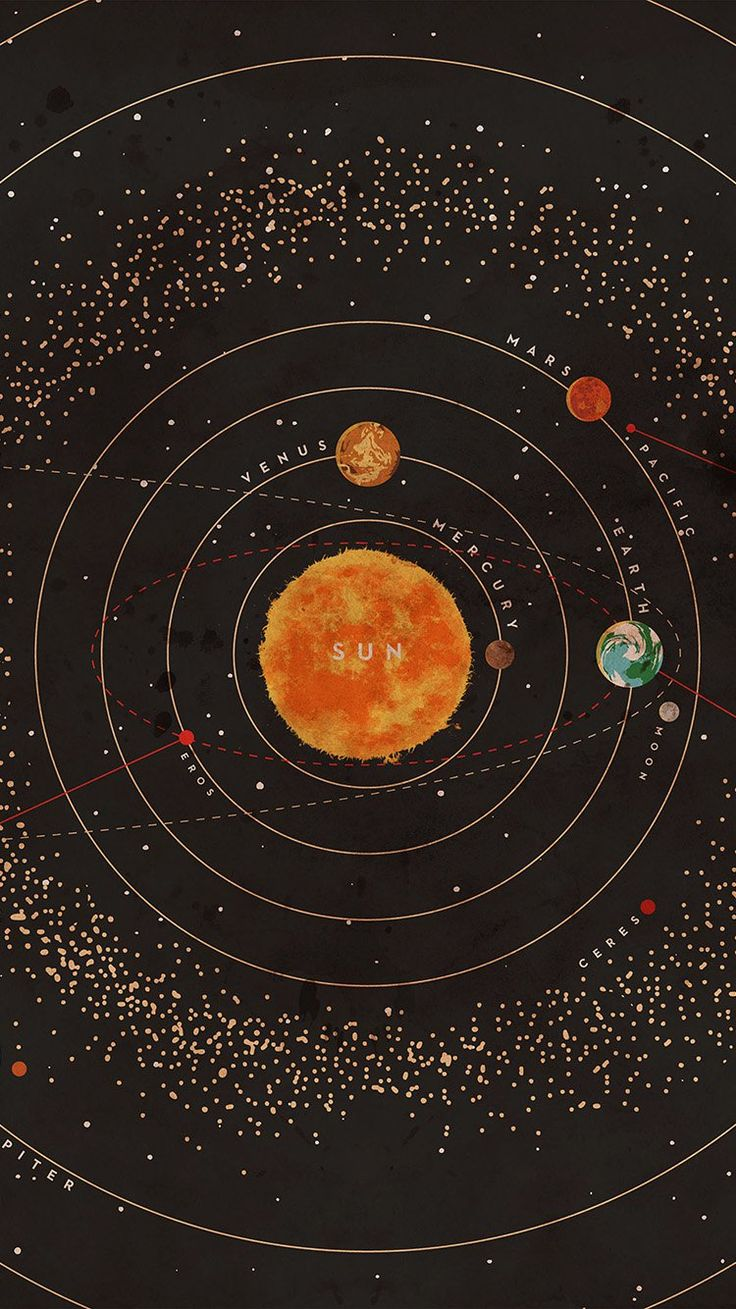 SOLAR SYSTEM SPACE ART COVER RED WALLPAPER HD IPHONE