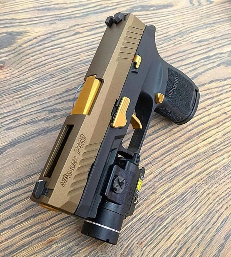 SIG Sauer P320. The cerakote and slide cut by @cedarfallstactical573 and tincoating by @brazenfirearms along with a Apex tactical flat trigger and stream lighting tlr4.