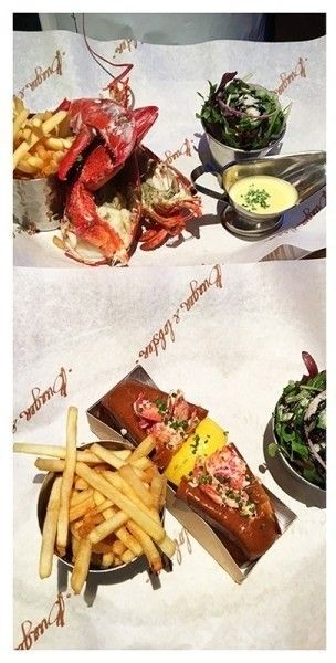 Burger & Lobster, Bath, England - If you aren't familiar with the concept of Burger & Lobster, it is quite clever. You can have a burger or a lobster (either a whole one or a lobster roll) and a glass o something lovely. In London, queues go around the block. In Bath, we arrived early for lunch and were seated immediately.