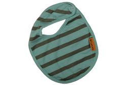 "Baby boys bib in our ""Slalom Stripe"" print, finished with a Naartjie Kids SA label."