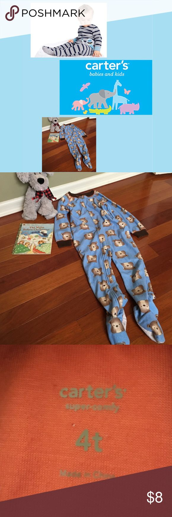 Carter's Blanket Sleeper Pajamas Fleece Super Cute Doggies  Fleece  Zip Up Footie PJs 1st photo contains images from the web for style idea.  🎉BUNDLE🎉 No props included || 😊 We are a smoke free hypoallergenic pet friendly home we have a Morkie. Carter's Pajamas
