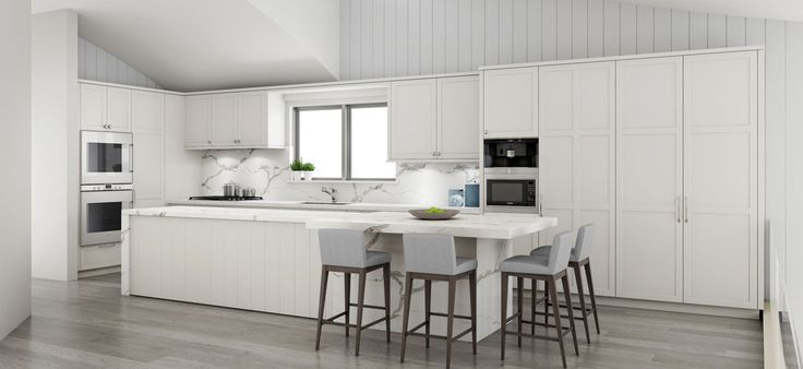 Hamptons style kitchen transforms a modern Palm Beach home #DanKitchensAus