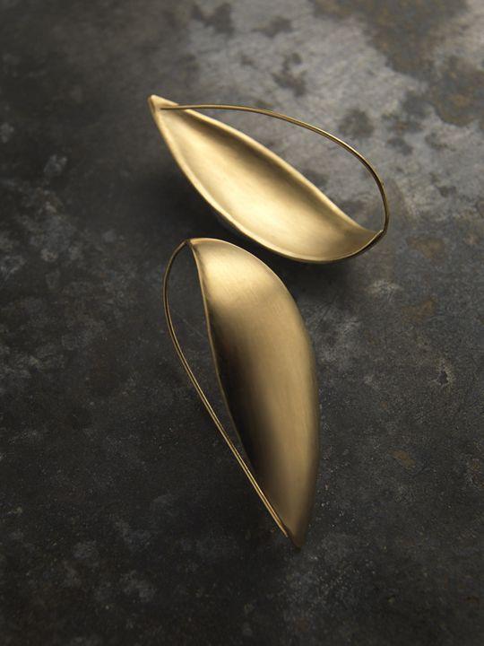 Delphine Nardin   Bijoux   Boucles d'oreille Gipsy, laiton plaqué or