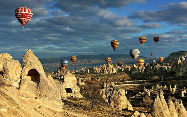 Globos aerostáticos sobre Capadocia, Turquía - DOĞA Hayattır