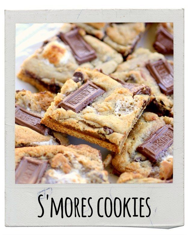 S'mores Cookies   17 Delicious Snacks To Make This Fall   http://www.the-girl-who-ate-everything.com/2011/06/smores-cookies.html