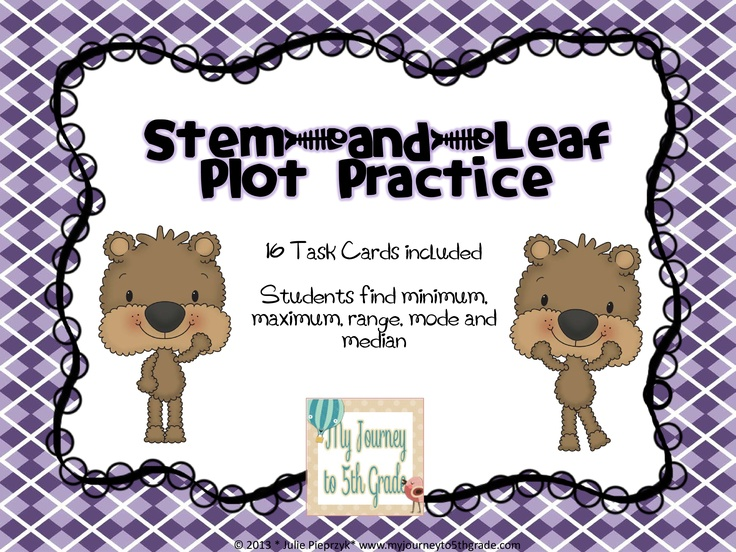 28 Best images about Stem and leaf plots on Pinterest | Math ...
