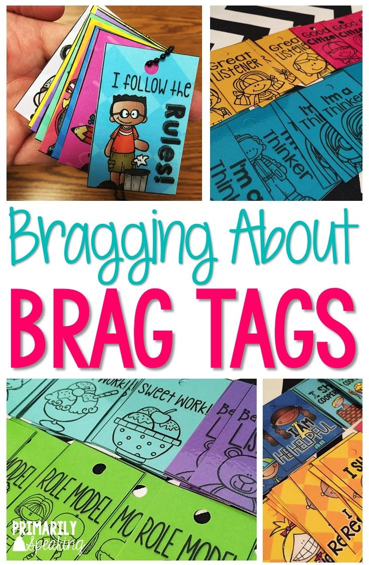 Brag tags are a fun classroom management tool to recognize student effort, behavior, and accomplishments.  Free brag tag in post!  :)